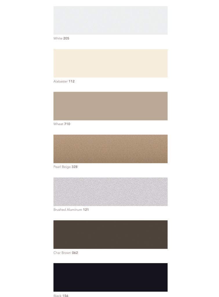 Aluminum Blinds Colors
